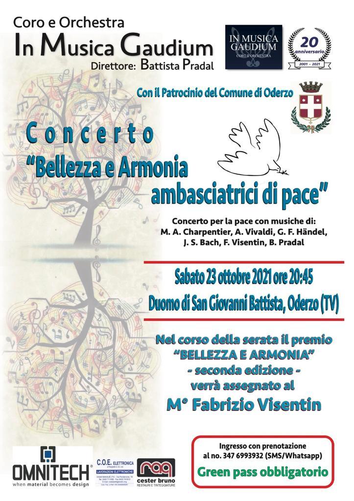 """Concerto """"Bellezza e Armonia ambasciatrici d..."""